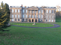 Calke Abbey from path to church