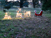 Illuminated Sleigh at Calke Abbey - apologies for camera shake